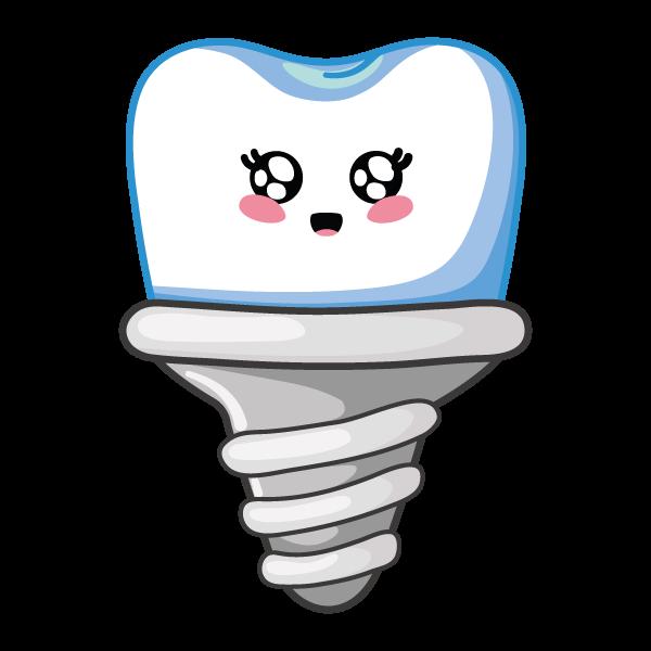 implante dental sonriendo